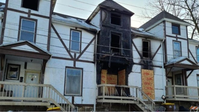 A fire on Jan. 29, 2021, at 509 W. Broadway St. damaged this multifamily apartment building. [PHOTO PROVIDED]