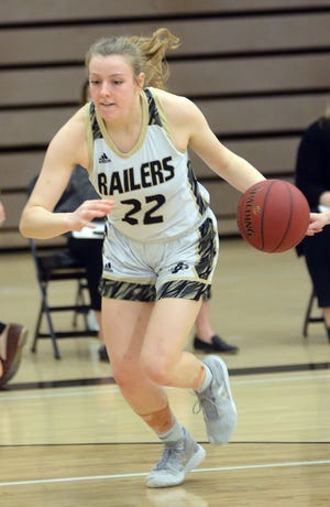 Newton junior Hayley Loewen scored 15 points Saturday in a 46-30 loss to ninth-ranked Bishop Carroll at the 45th NIT.