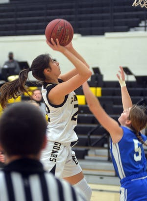 Andover Central junior Brittany Harshaw scored 25 points in an 83-43 win over Kapaun-Mt. Carmel Saturday in the NIT. Harshaw claimed the tournament scoring title with 71 points in three games.