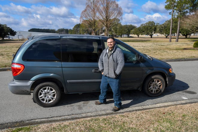 Lenoir Community College (LCC) student Daniel Edwards recently received a car through the LCC Cars for College program. [CONTRIBUTED PHOTO]