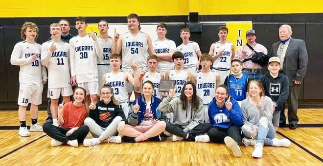 The Climax Springs girls and boys celebrate a second straight year of sweeping for championships in the Osceola Tournament on Saturday, January 30 in Osceola.