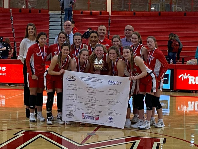 The McPherson Lady Bullpups collected a tournament win at the Mid America Classic, winning the title with a 45-39 win over Dodge City,