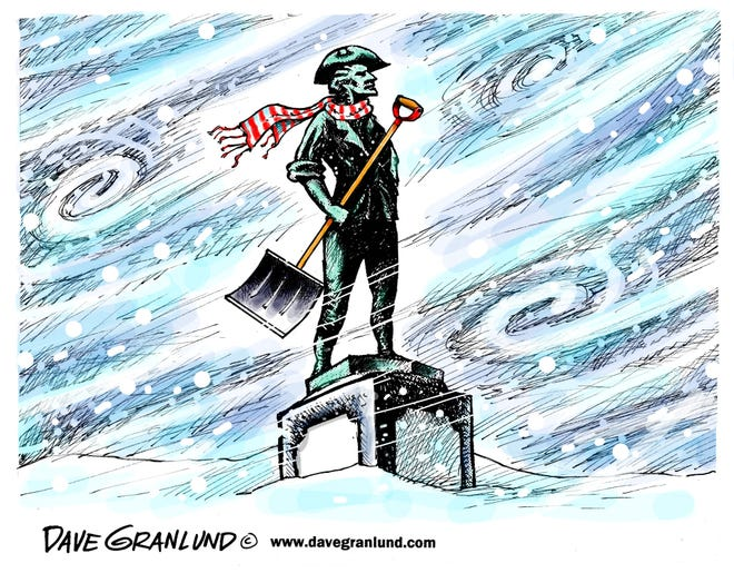 Dave Granlund cartoon on nor'easter