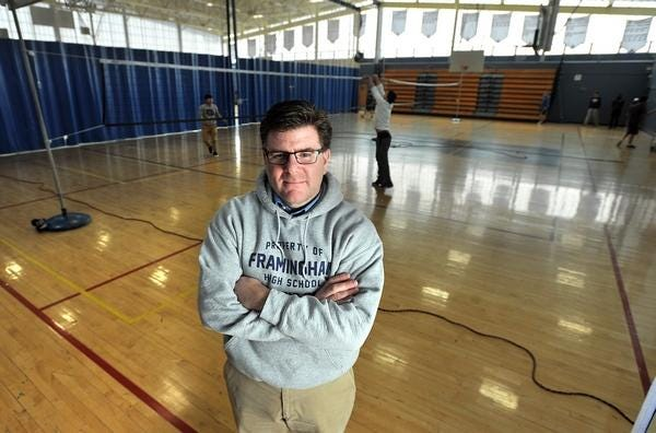 "Framingham High Athletic Director Paul Spear says the pandemic has ""completely changed our day to day."""