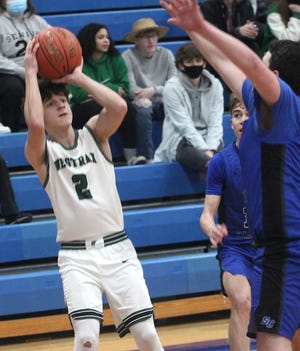 Westran junior guard Leyton Bain and the Hornet boys basketball team lost the Sturgeon Invitational championship game Saturday 63-53 to Salisbury. Bain nailed four threes en route to scoring 18 points in a losing effort for the Hornets.