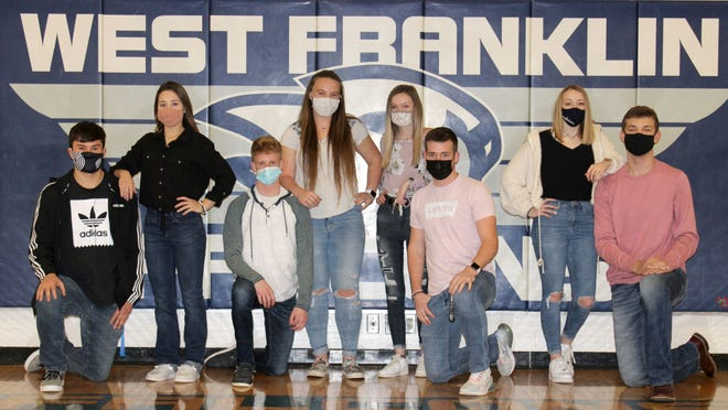 The West Franklin Queen of Courts royalty are Jessejames Martinez, Ally Hutchison, Caleb McKenzie, Nevaeh Scott, Savannah Dennison, Nathan Hower, Kaelin Bones and Cade Fischer. The coronation ceremony will be Friday.