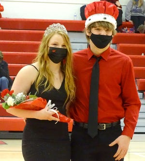 Ottawa High School seniors Darby Weidl and Kael Lane were crowned Queen and King during Friday's Winter Royalty coronation.