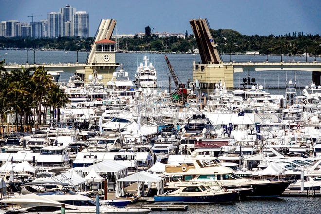 Big boats, small boats, yachts and superyachts all cruised into West Palm Beach for the 2019 Palm Beach International Boat Show. [Melanie Bell/palmbeachdailynews.com]