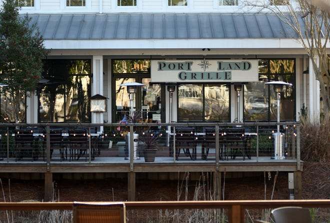 The Port Land Grille is one of several restaurants at Lumina Station in Wilmington, N.C., Monday, Feb. 1, 2021.