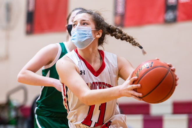 Old Rochester's Meg Horan averaged 12 points and 10 rebounds her senior year.