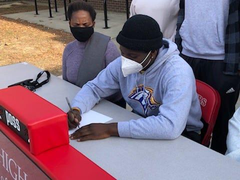 David Abolarinwa signed to play football at the University of New Haven.