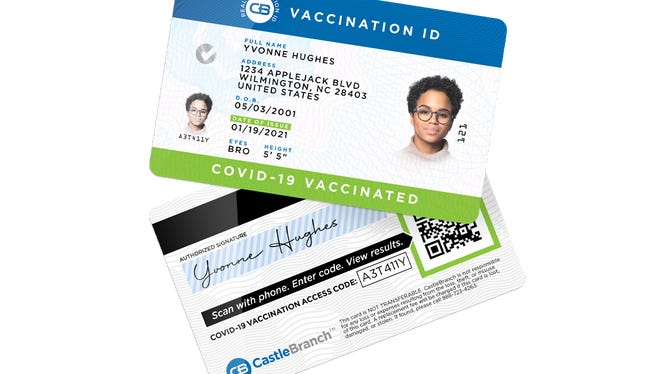 Wilmington-based CastleBranch has developed a digital health card that will offer proof if someone has received the COVID-19 vaccine.