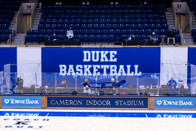 Duke Men's Basketball beat the Boston College Eagles at the Cameron Indoor Stadium on January 6, 2021 at Durham, North Carolina.