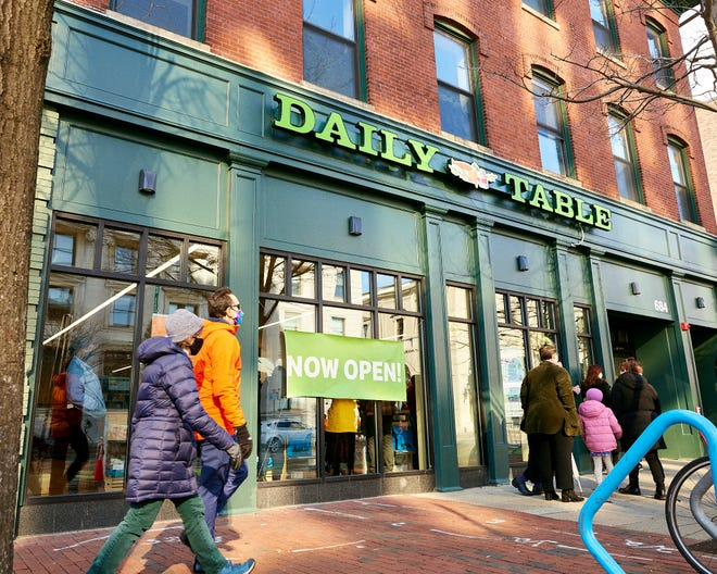 The Daily Table, an affordable grocery store, opened Jan. 22 at 684 Massachusetts Ave., at the former location of the Au Bon Pain, in Central Square, Cambridge.