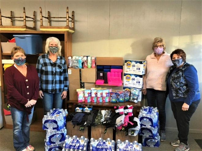 American Legion Auxiliary Colonel Crawford Unit 181 donated items to Bucyrus Elementary as part of their Give Ten to Education effort. Pictured (L to R) are: Unit 181 Vice President Tami Tima, BES representative Marie Stuckman, President Karen Weir and Education Chairman Brandy Robertson.