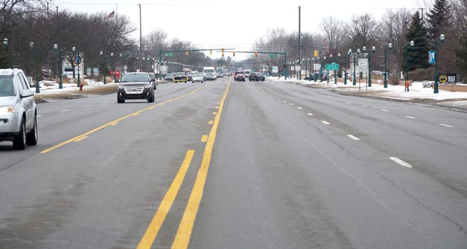"""Ford Road near Haggerty. Canton is planning on turning the busy road into a boulevard system with divided roadway with """"Michigan lefts""""."""