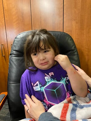 Palm Springs police released this photo of a 6-year-old girl found wandering an apartment complex Monday, Feb. 1, 2021.