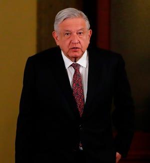 Fotografía de archivo fechada el 21 de enero de 2020, del presidente de México durante un acto protocolario en Ciudad de México.