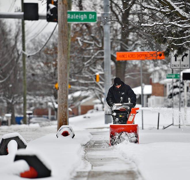 Winter storm weather in Springettsbury Township, Monday, Feb. 1, 2021. Dawn J. Sagert photo
