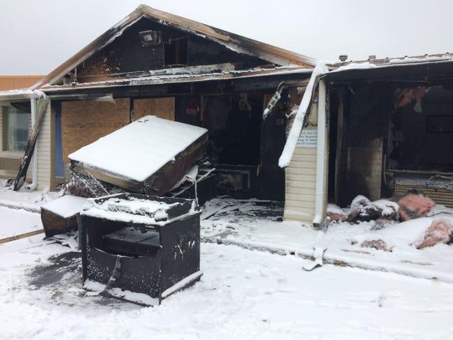 A fire Sunday damaged the Garden Inn on Commerce Road.