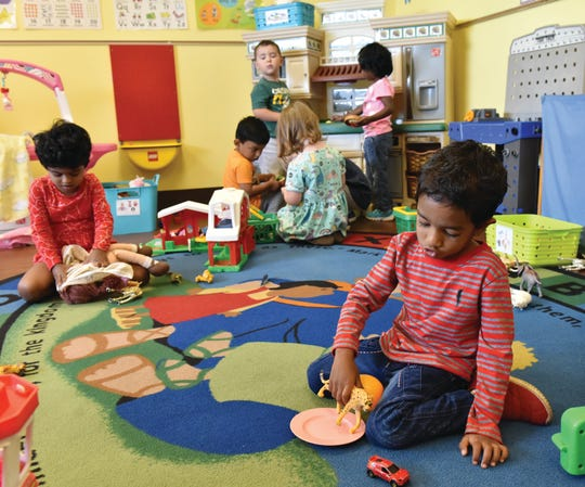 Children have free play at Disciples Child Development Center.