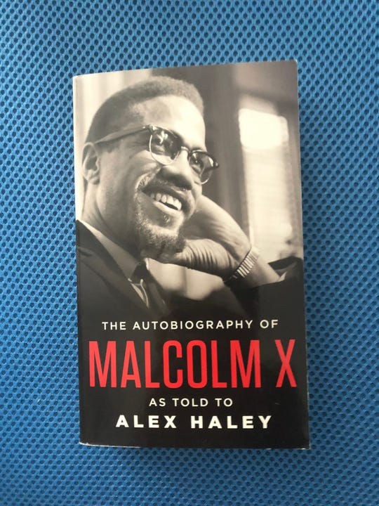 "The cover of ""The Autobiography of Malcolm X,"" as told to Alex Haley."