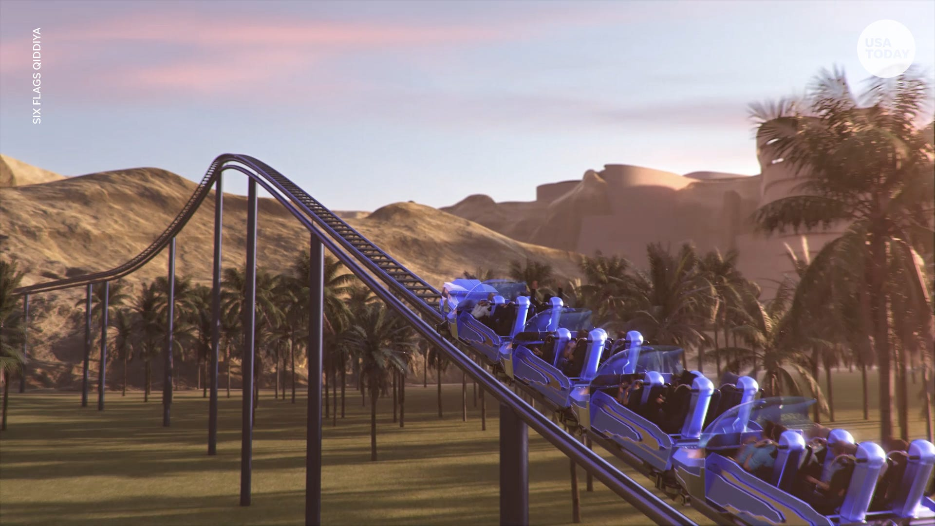 Falcon's Flight roller coaster to debut at Six Flags Qiddiya in Saudi Arabia in 2023