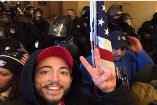 Dalton Crase of Lexington, Kentucky is among those charged with entering the Capitol illegally on Jan. 6, 2021.