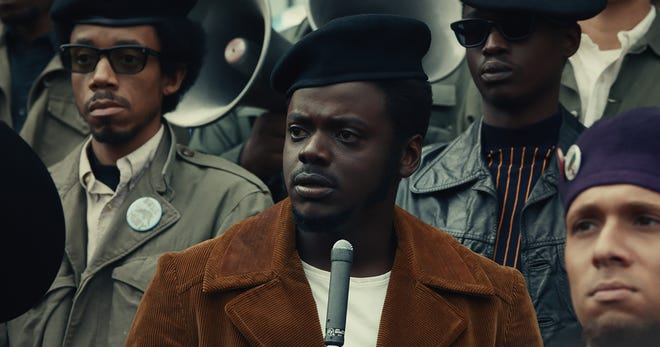 """Black Panther leader Fred Hampton (Daniel Kaluuya, center) is targeted by the FBI in the period thriller """"Judas and the Black Messiah."""""""