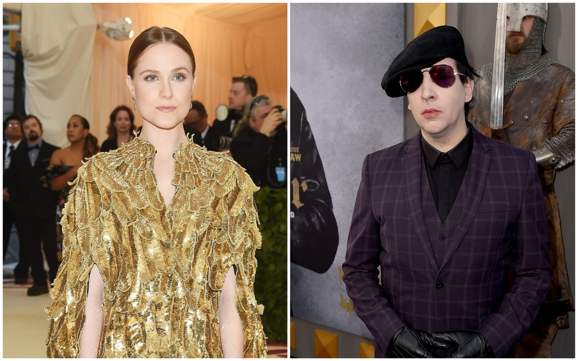 Evan Rachel Wood gives Marilyn Manson the middle finger after  Donda  controversy