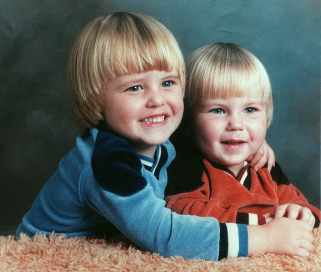 David Strittmatter and his brother Charlie Wright, who was killed in 1987. This is a family photo from 1982.