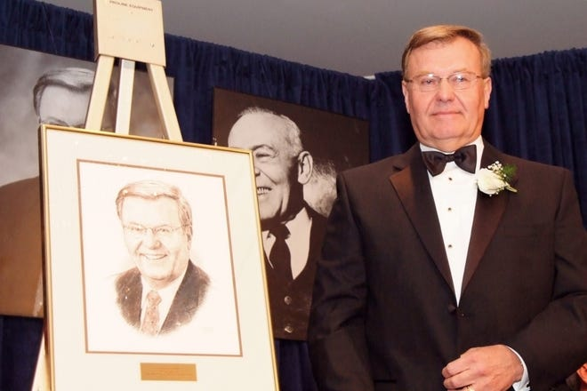 Philip H. Maynard in 2007, when he was honored as the Akron Community Foundation's 40th Bert A. Polsky Humanitarian Award Recipient.