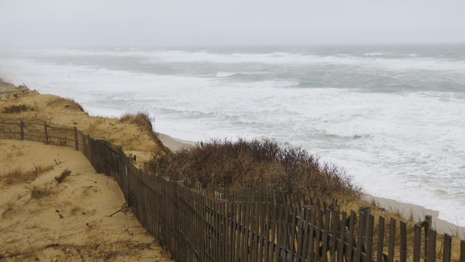 SOUTH WELLFLEET--(2/2/21)--Ocean frenzy as seen from the Marconi Overlook.