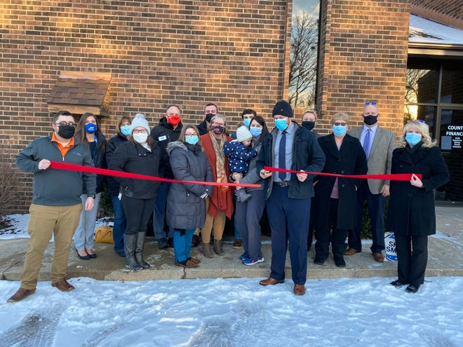 The Canton Area Chamber of Commerce held their first ribbon cutting of the year Thursday at the the Country Financial office of Lance Moring, 40 E. Ash Street, Canton.