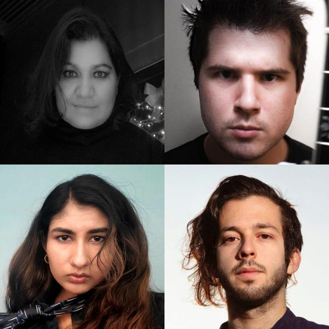 Clockwise from top left: Ana Paola Santillán Alcocer, Daniel Fitzpatrick, Paul Mortilla & Nina Shekhar