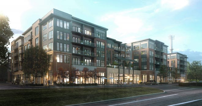 Arcadia Development's plans for the Golden Bear Shopping Center project at Fishinger Road and Riverside Drive call for commercial space, condos, offices and a parking garage.