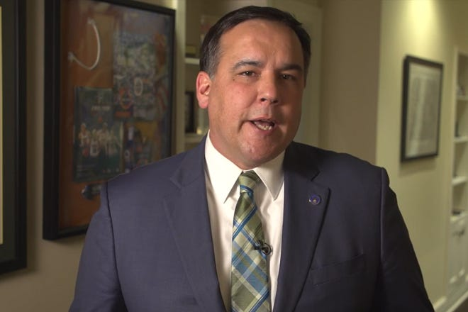 Columbus Mayor Andrew J. Ginther announces the demotion of Thomas Quinlan from police chief to deputy chief in a video released by the mayor's office on Jan. 28, 2021.