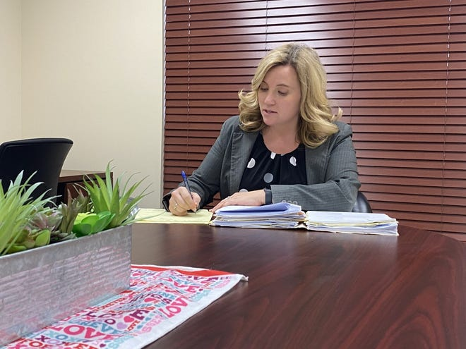 Guernsey County Prosecuting Attorney Lindsey Angler is taking a stand against illegal drug crimes and drug-related offenses after being elected in November 2020.