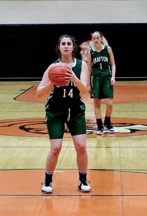 Mariam Hillerstrom is one of the three co-captains on this year's Grafton High School girls' varsity basketball team.