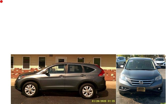 The Honda CRV that was stolen from Snelling Auto Plaza in Kirksville.
