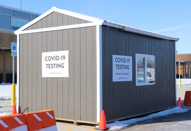 The drive-thru COVID testing site at OSF Saint James-John W. Albrecht Medical Center will be open Tuesday through Friday from 8:30 a.m. to noon.