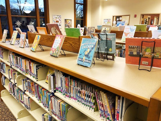 The children's area at Dominy Memorial Library shows off books recently obtained.