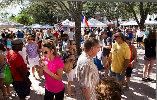 The West Palm Beach GreenMarket drew about 5,000 people to the waterfront each Saturday in season, before the pandemic forced its closing.