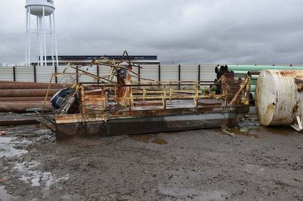 Iberville Parish Sheriff detectives recovered this pontoon.