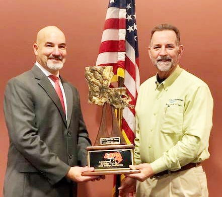 """Plaquemine Mayor Edwin """"Ed"""" Reeves was honored for his service as Chairman of the Louisiana Energy and Power Authority Board of Directors during the change in officers at LEPA's Jan. 21 meeting."""