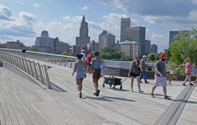 The Providence River Pedestrian Bridge   [The Providence Journal / Sandor Bodo]