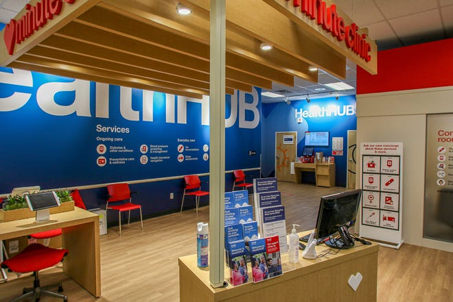 The Health Club clinic inside the CVS store on Hope Street, Providence. CVS is now offering vaccines to teachers.