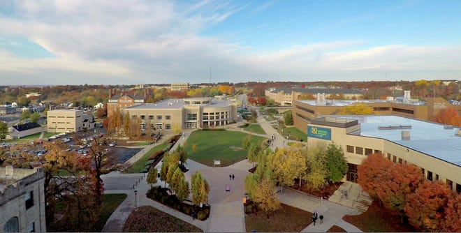 Aerial photo of the S&T campus.