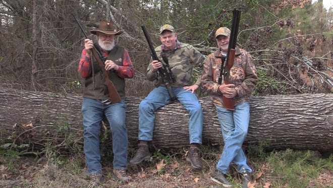 Luke Clayton, center, writes about a great winter outing with good friends Jeff Rice, right, and Larry Weishuhn.