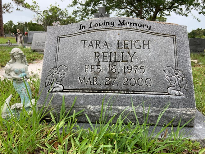 The headstone of Tara Reilly, who was murdered in 2000 and is buried in Bradenton. Her killer has never been found.